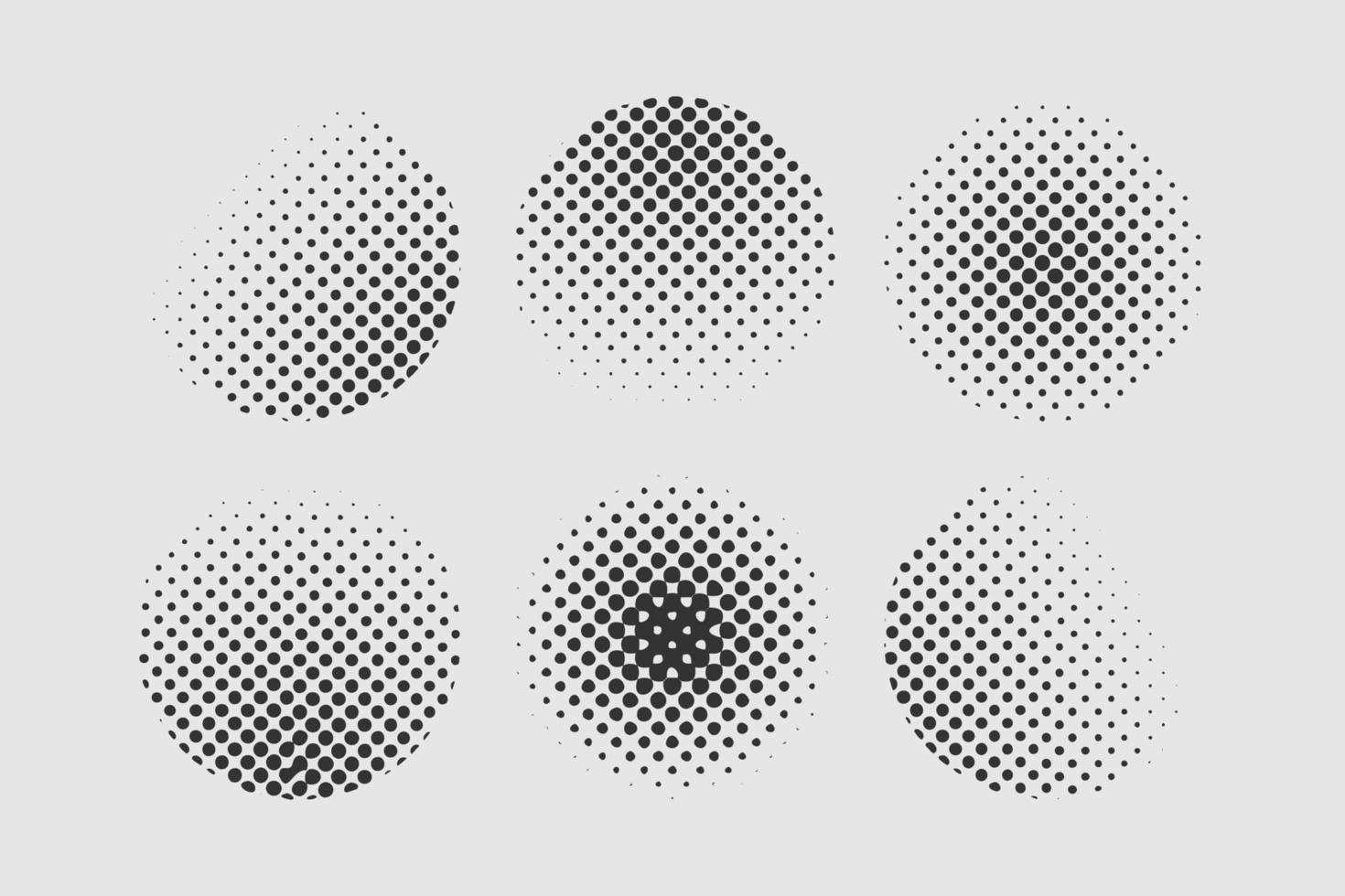 Satz von Halbtonpunkten Vintage-Design-Element in Kreisform vektor
