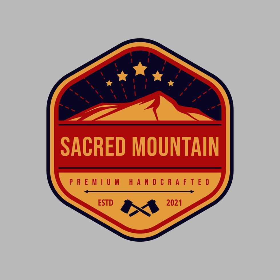 Vintage Berg- und Abenteuer-Emblem-Logo vektor