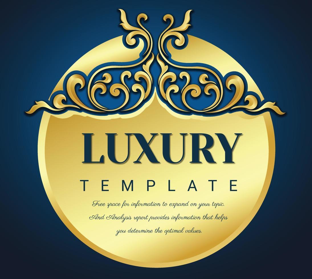 Bilderrahmen mit goldenen Rändern, verzierter Vintage-Rahmen für Einladungen und Grußkarten, eleganter Vektor