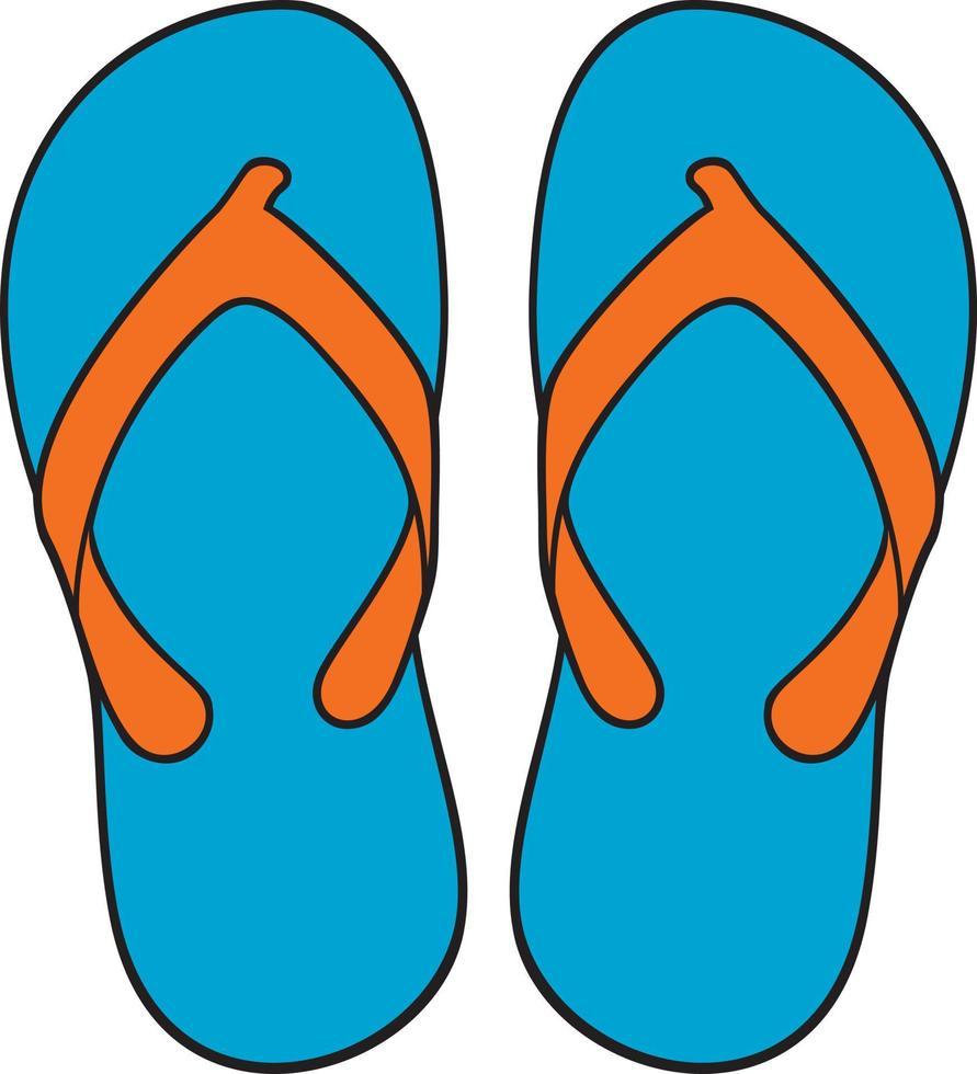 blaue Flip-Flops vektor