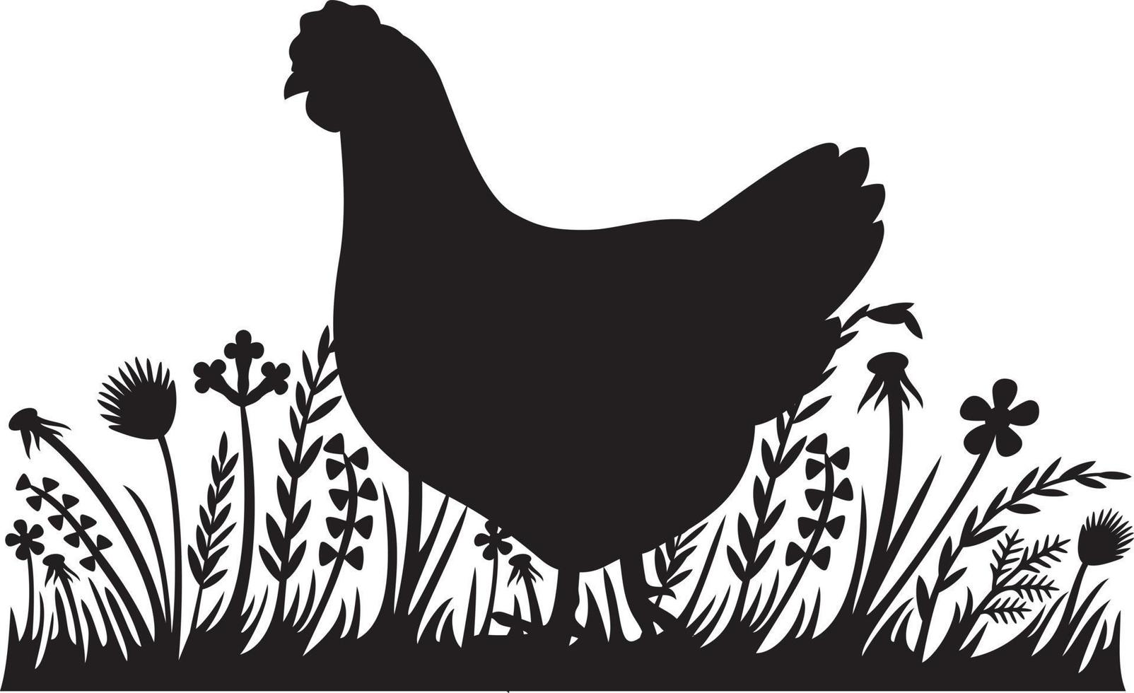 Huhn im Gras vektor