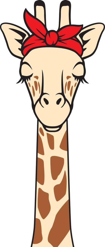 Giraffe mit Bandana-Farbe vektor