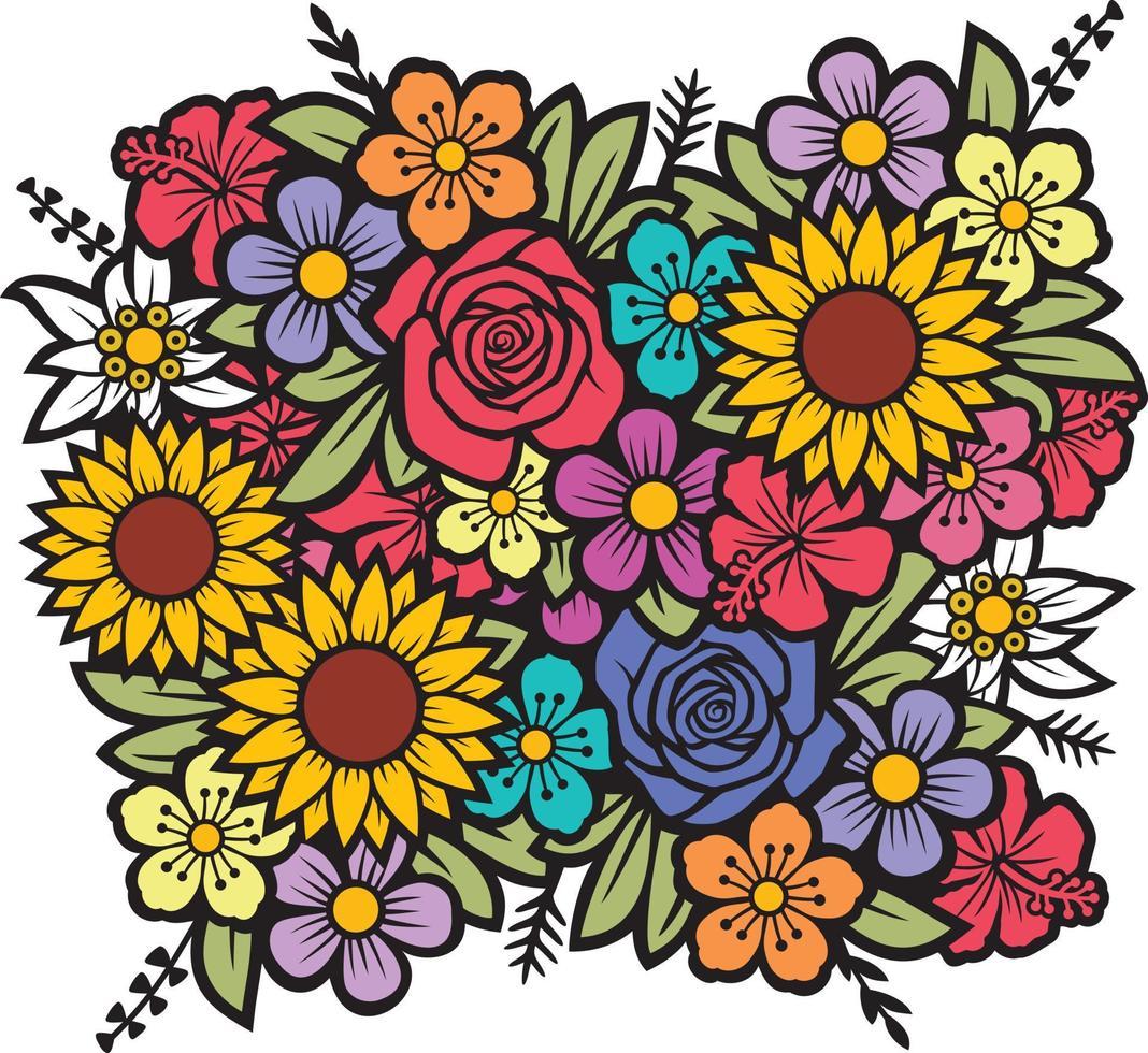 Blumenstrauß-Vektorillustration vektor