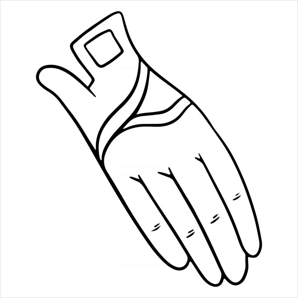 Outfit Reiterkleidung für Jockeyhandschuhe Illustration im Linienstil Malbuch vektor
