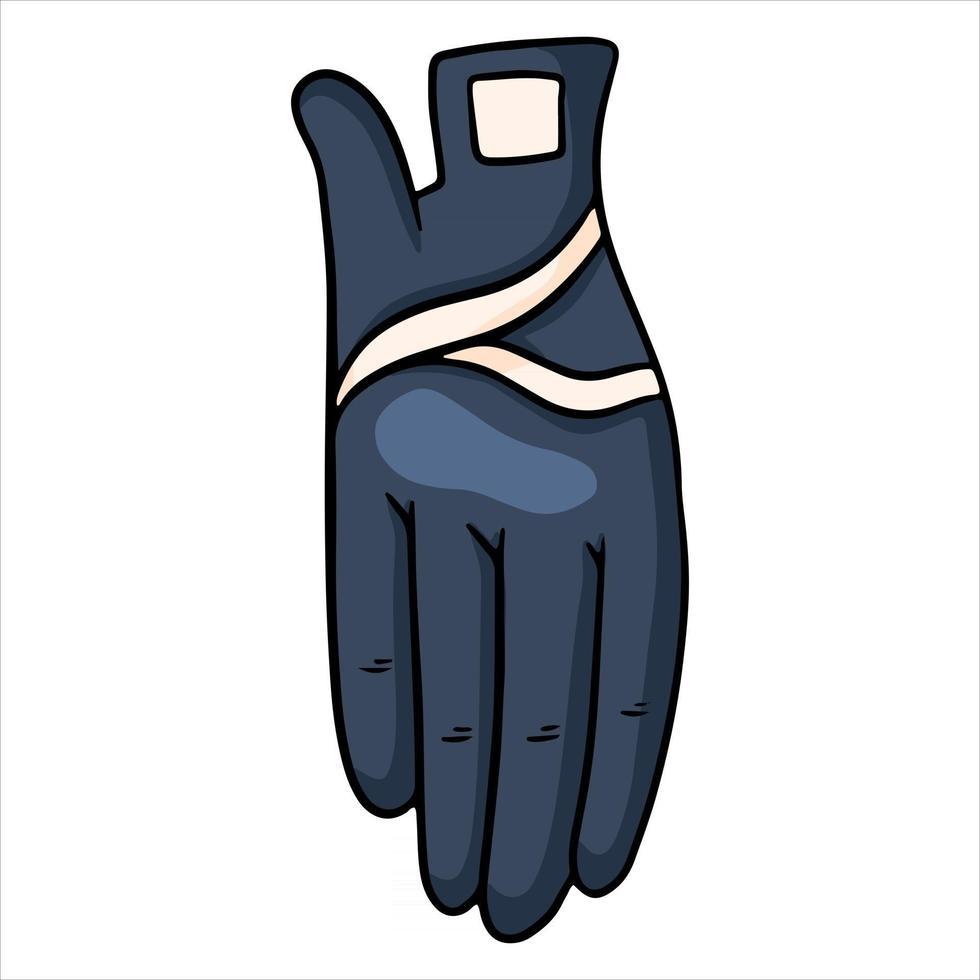 Outfit-Fahrerkleidung für Jockey-Handschuhe Illustration im Cartoon-Stil vektor