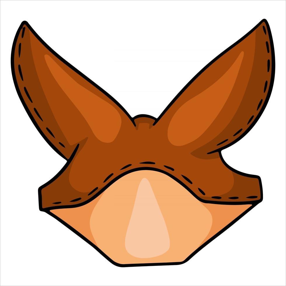 Pferdegeschirr-Kopfschmuck an den Ohren für eine Pferdevektorillustration im Cartoon-Stil vektor