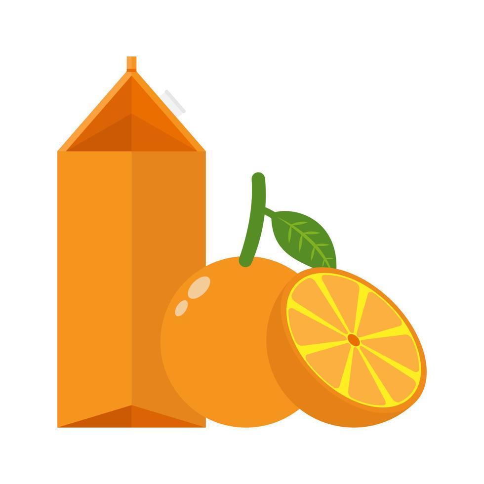 Orangensaft trinken Symbol flaches Design vektor