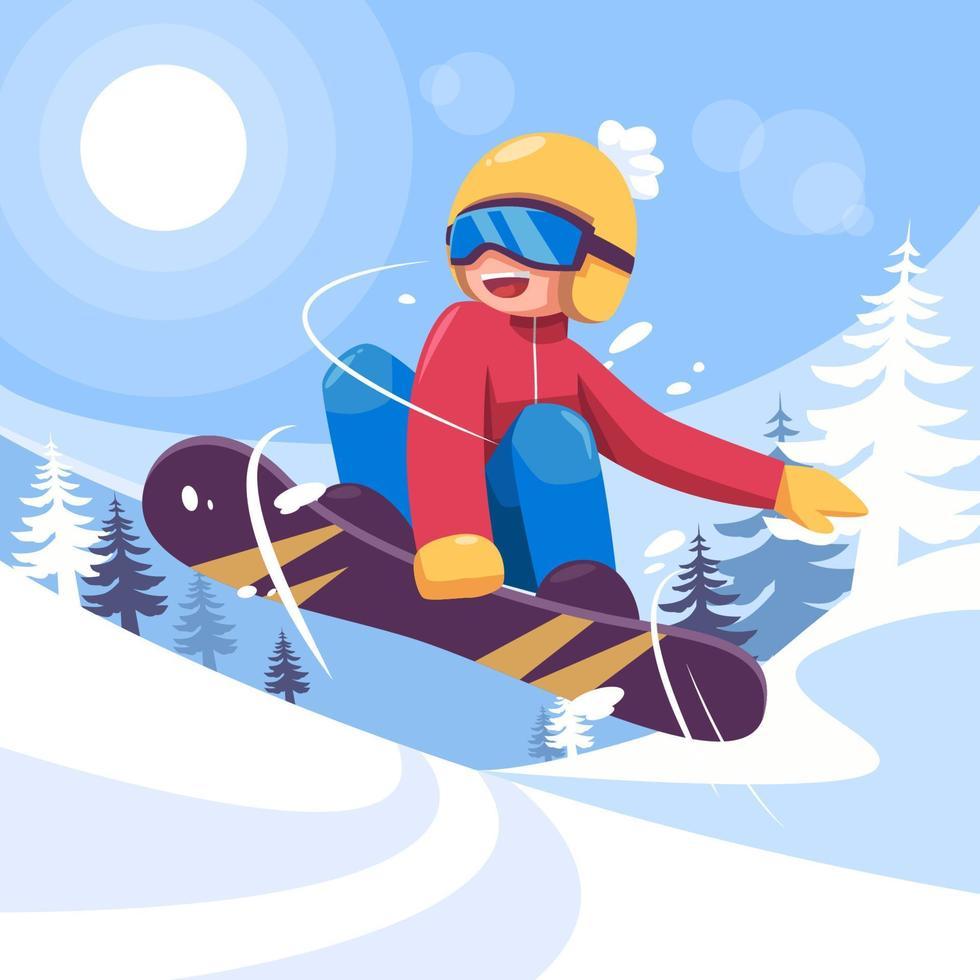 Wintersport-Abbildung vektor