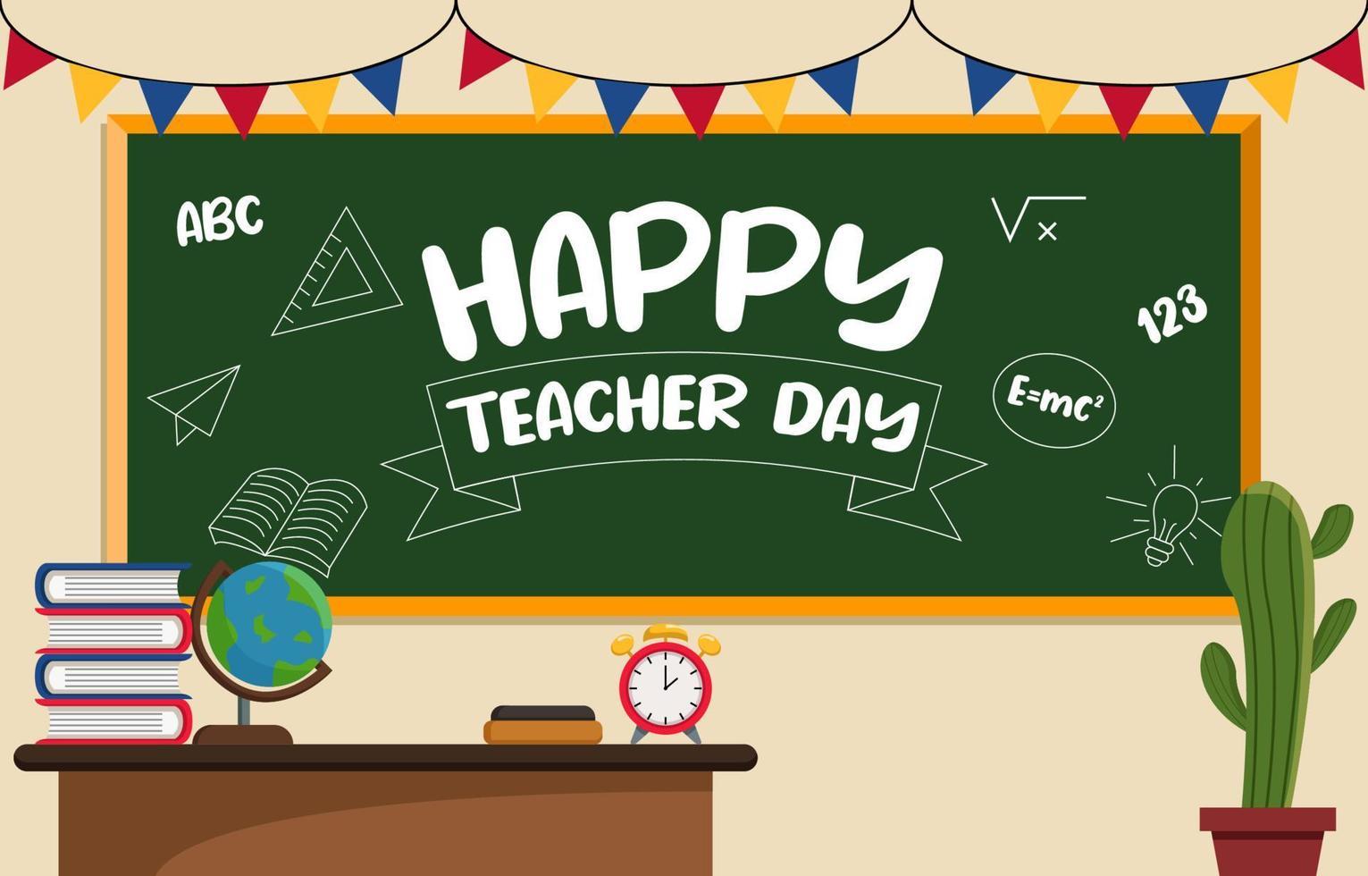 Hintergrund zum Lehrertag vektor