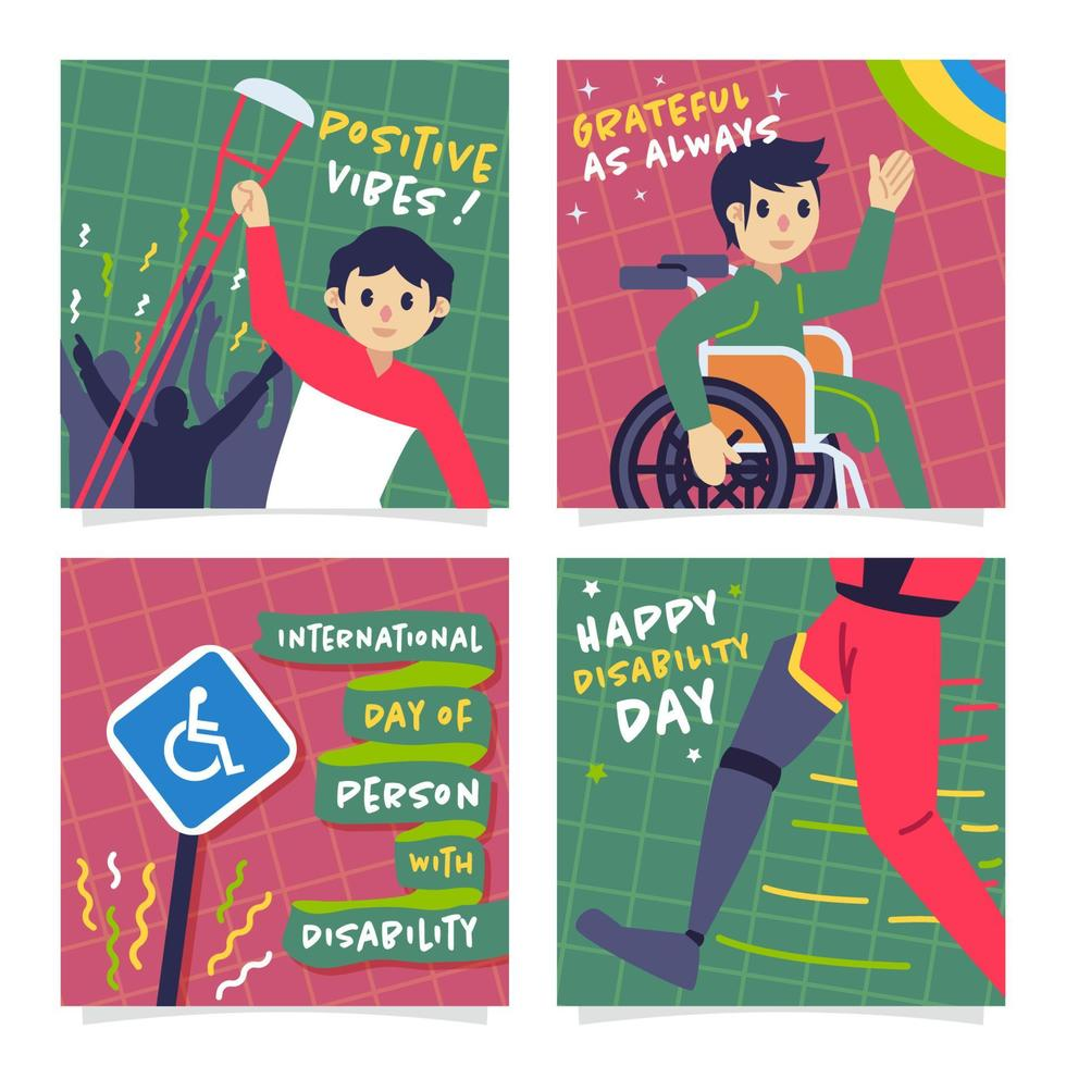 Social-Media-Beitrag zum Internationalen Tag der Behinderung vektor