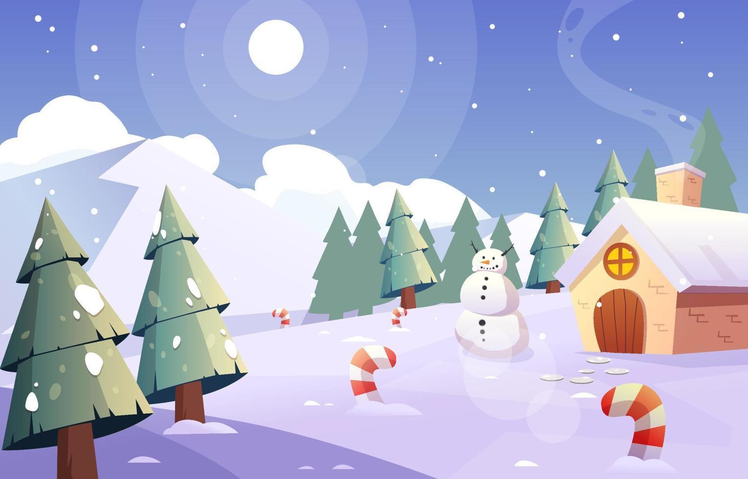 Winterwunderland Hintergrund vektor