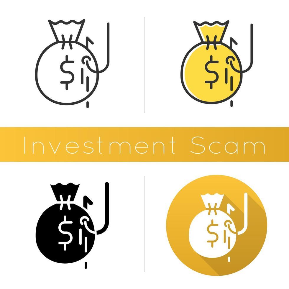 Symbol für Investitionsbetrug vektor