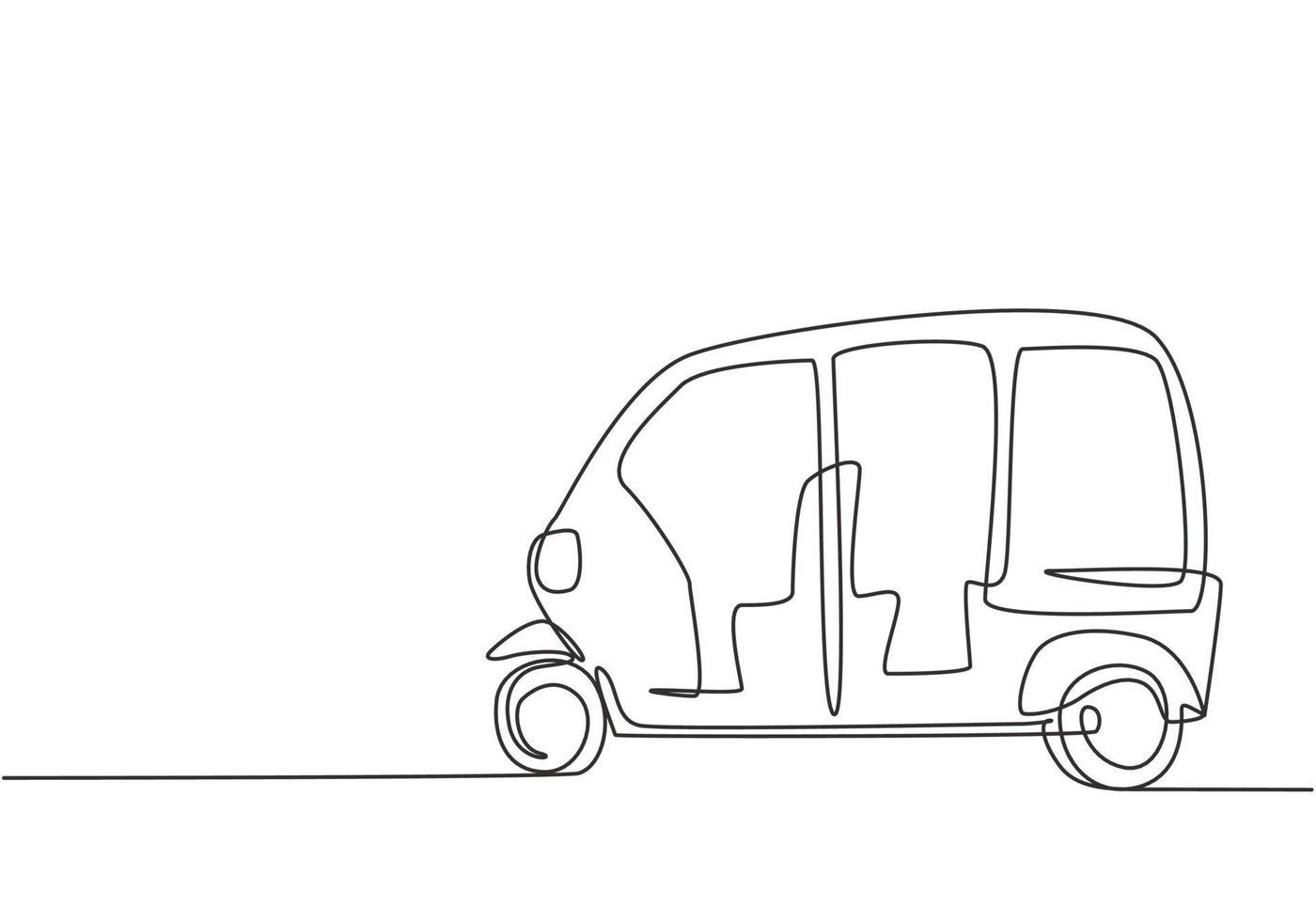 kontinuierliche Linienzeichnung Transport vektor