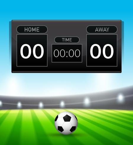 En fotbollsspelsskattmall vektor