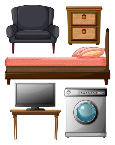 Nützliche Möbel vektor