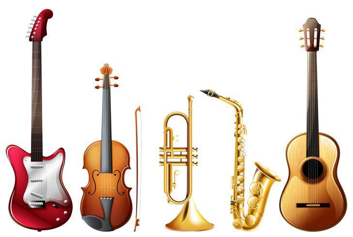 Musik eingestellt vektor