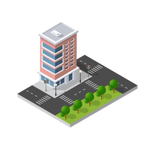 Isometrische Landschaft 3D der Computerinternet-Ikone von vektor