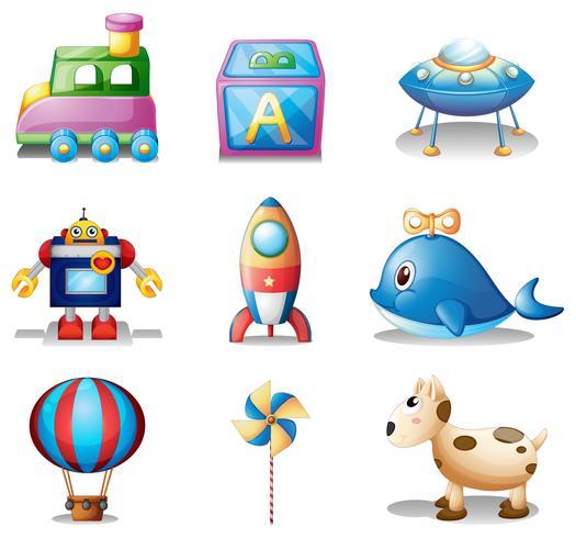 Leksaker för barn vektor