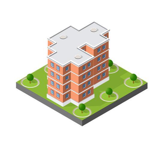 Dator internet ikon isometrisk 3D landskap av vektor