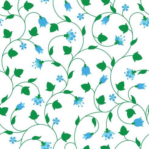 Seamless blommönster med små blå blommor vektor