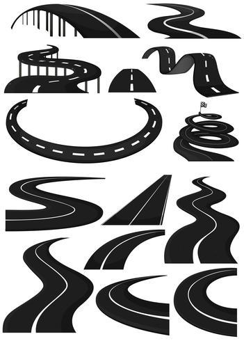 Verschiedene Formen von Bahnen vektor