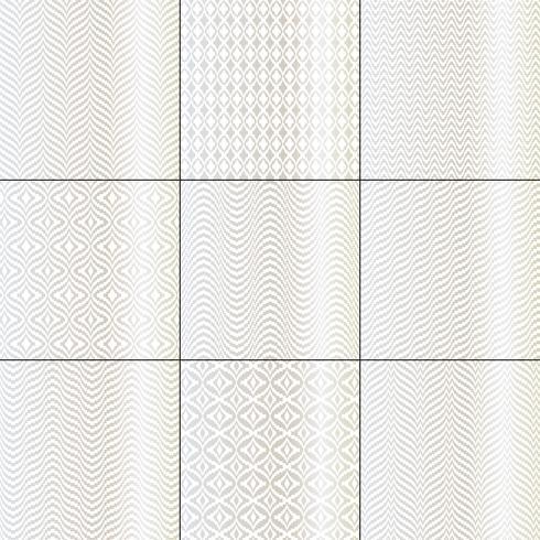 silberne weiße mod bargello geometrische muster vektor