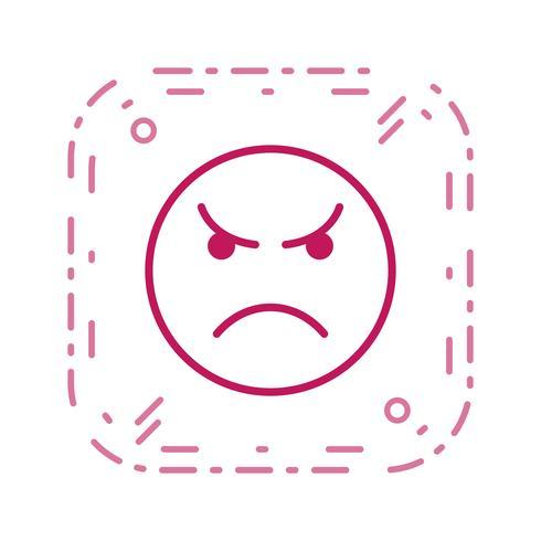 Verärgerte Emoticon-Vektor-Ikone vektor