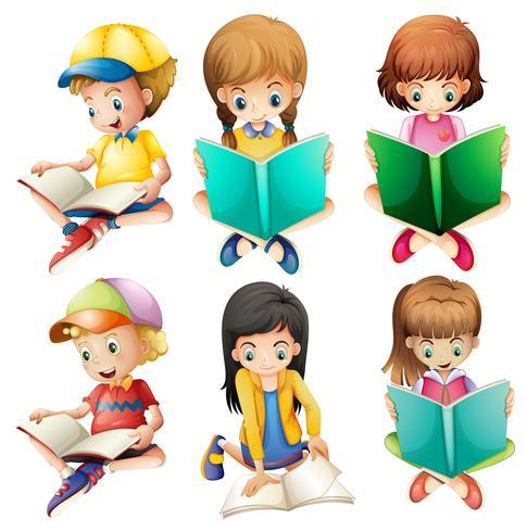 Kinder lesen vektor