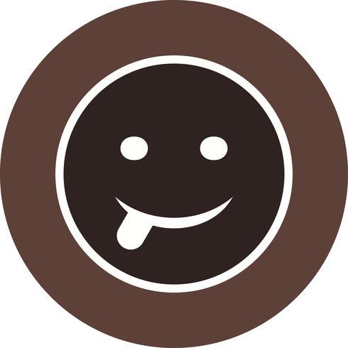 Zunge Emoji-Vektor-Symbol vektor