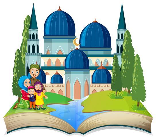 Ein muslimisches Thema für ein offenes Buch vektor