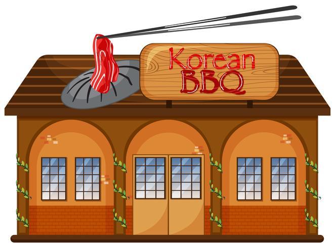 En koreansk grillrestaurang vektor