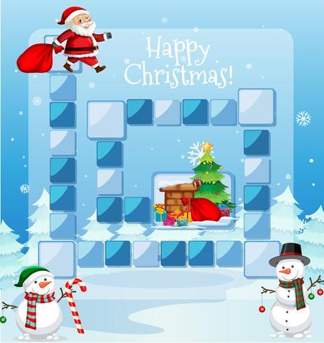 Frohe Weihnachten Spielvorlage vektor