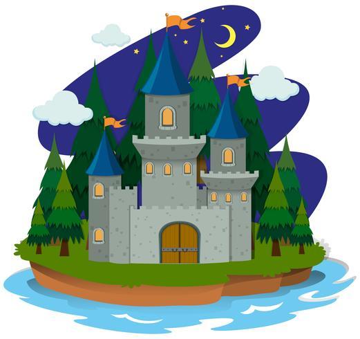Schloss auf der Insel vektor