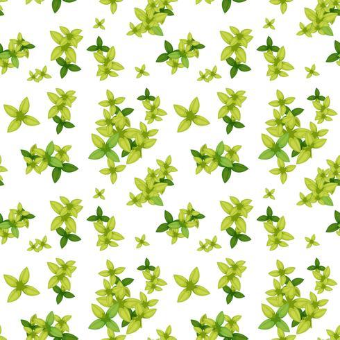 Nahtloses Muster des grünen Blattes vektor