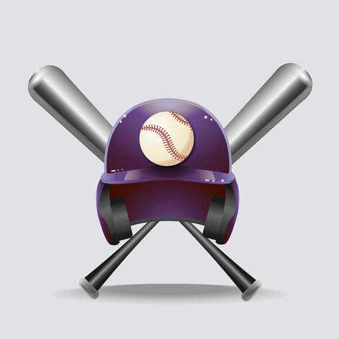 Realistischer Baseball vektor