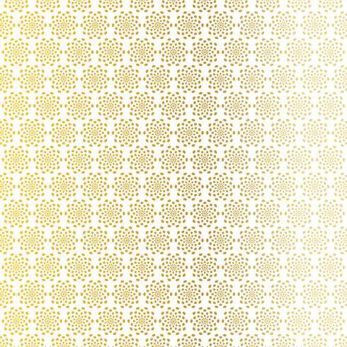 Goldweißes abstraktes Starburstmuster vektor