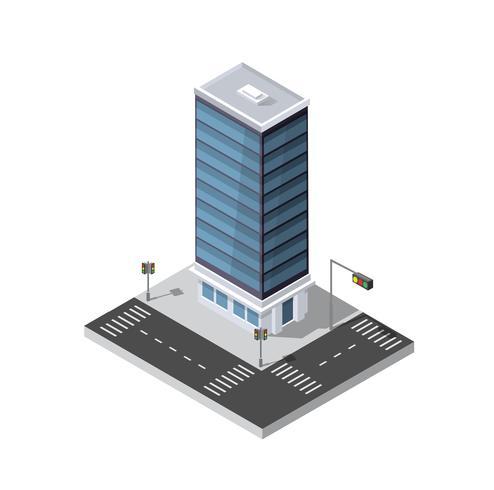 Web-Ikone isometrische Stadt 3D vektor