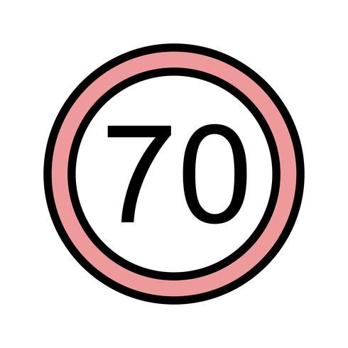 Vektor-Geschwindigkeitslimit 70 Symbol vektor