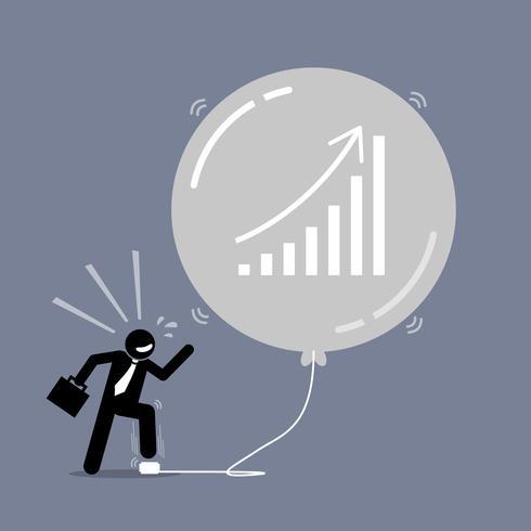börsen bubbla. vektor