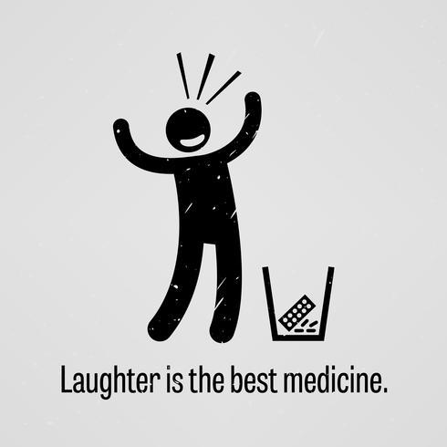 Skratt är den bästa medicinen. vektor