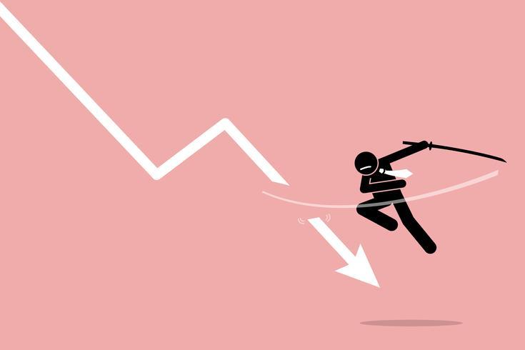 Klipp förlust av investerare eller näringsidkare. vektor