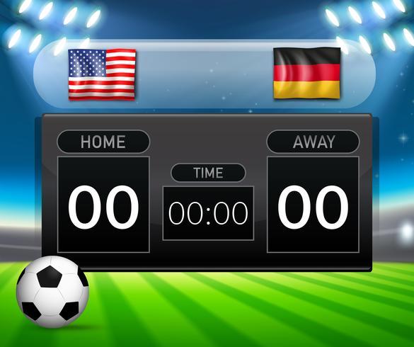 USA VS Germany resultattavla vektor