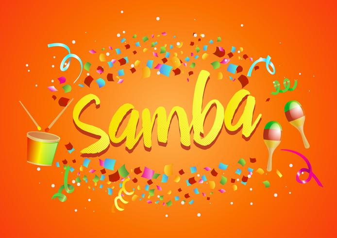 "Stoß von Konfetti um ""Samba"" vektor"