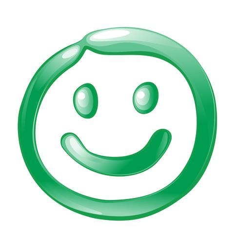Smiley-Ikonenvektorentwurfs-Illustrationsschablone vektor