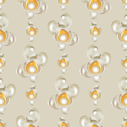 Låg lättnadskonst med 3-dimensionell och sömlös mönster bakgrundsdekoration. vektor