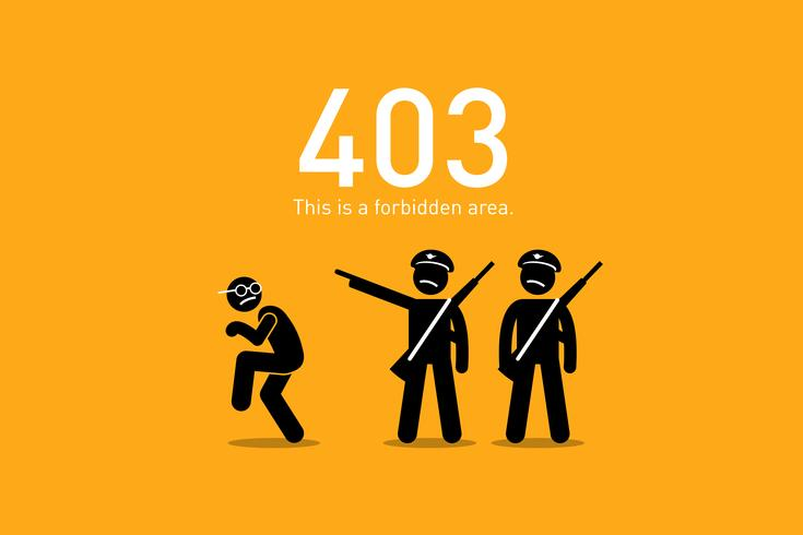 Webbplatsfel 403. vektor