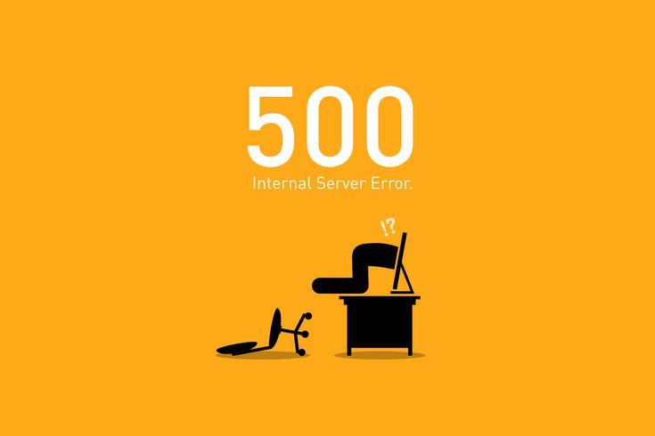 Webbplatsfel 500. vektor