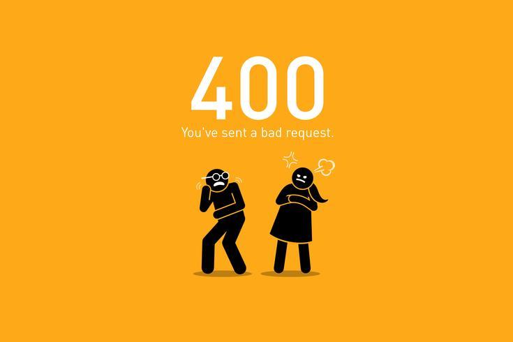 Webbplatsfel 400. vektor