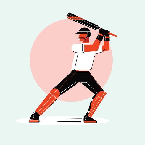 Schlagmann, der Cricket-Meisterschafts-Sport spielt vektor