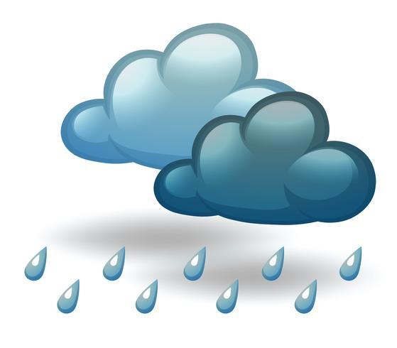Ein regnerisches Wetter vektor